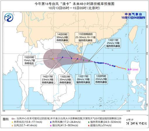 """""""浪卡""""今晚登陆海南,受其影响,广西这些地方明天有大暴雨……"""